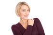 Gesicht einer älteren Frau: zweite Lebenshälfte