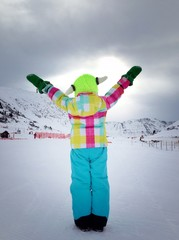 child at winter holiday