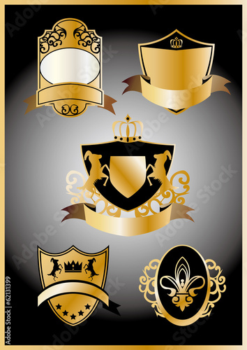 Coat of arms of gold