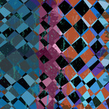 abstract geometric background, with squares, strokes and splashe