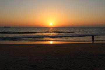 Sunset on Candolim Beach