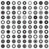 Fototapety Collection of gear wheels isolated on white background