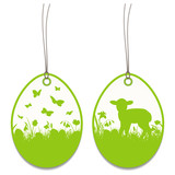 2 Hangtags Easter Lamb Meadow