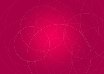 Gradient background with circles lines