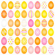 48 Slim Easter Eggs Pattern Pink/Yellow/Orange