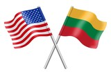 Flags: United States and Lithuania