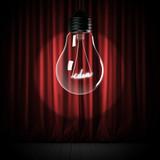 idea shining inside light bulb