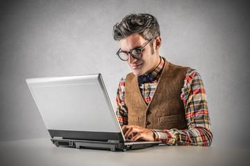 typing guy
