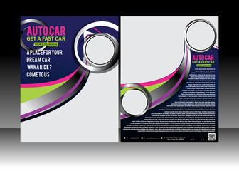 auto car flyer Design