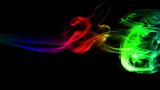 Dark Abstract Background with Colored Real Smoke