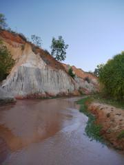 Red sand, river, Ham Tien, Vietnam