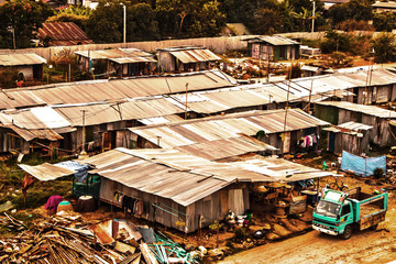 Workers' houses in Bangkok thailand, Slum in Bangkok City