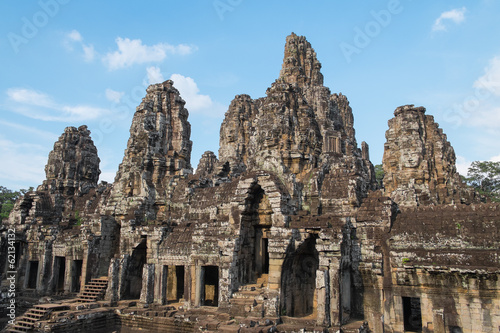 Stone heads at ancient Bayon Temple