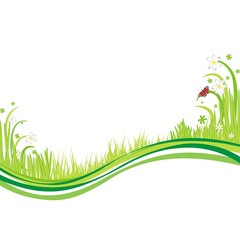 Naturhintergrund mit grünem Gras