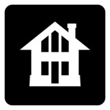 Simple vector house icon