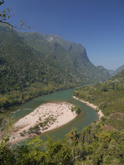 Jungle, mountains and river. Muang Ngoi, LAO