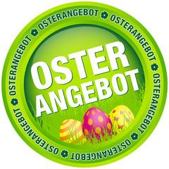 """Button """"Osterangebot"""" Ostereier grün"""