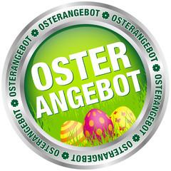 """Button """"Osterangebot"""" Ostereier grün/silber"""