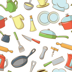 Kitchenware Seamless Pattern