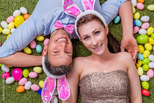 canvas print picture happy easter couple