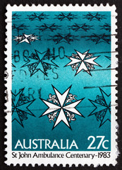 Postage stamp Australia 1983 St. Johns Ambulance