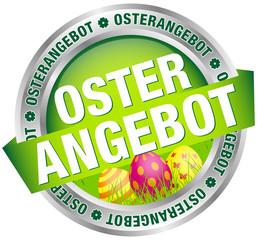 """Button Banner """"Osterangebot"""" Ostereier grün/silber"""
