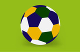 Soccer ball of Brazil 2014, vector