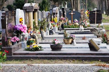 Grabstein am Friedhof