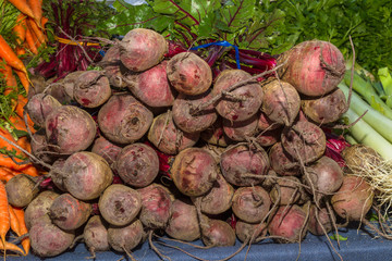 Delicious fresh ripe beetroots