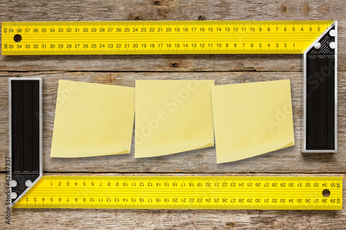 Right angle  tools and sticky notes