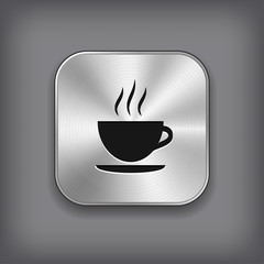 Coffee icon - metal app button