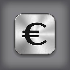 Euro icon - metal app button