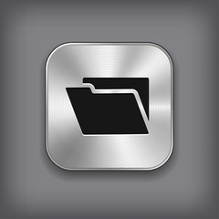 Folder icon - metal app button