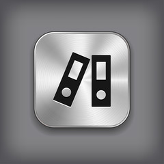 Office folder icon - metal app button