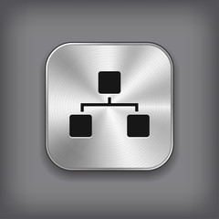 Network icon - metal app button