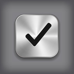 Check mark icon - metal app button