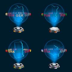 Gruppe G Mannschaften WM Hologramme