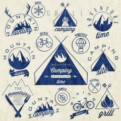 Retro vintage style symbols