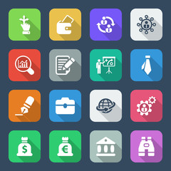 flat business iconset colorful 2