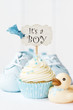canvas print picture - Baby shower cupcake