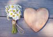 Herz Ganseblümchen