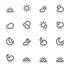 Nice weather symbols