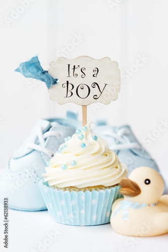 canvas print picture Baby shower cupcake