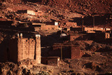 traditional  berbers village in High Atlas Mountain