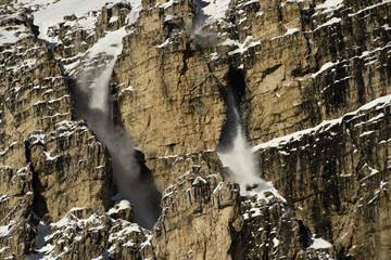 """Avalanche on """"Cima Grande"""", Tre cime di lavaredo"""