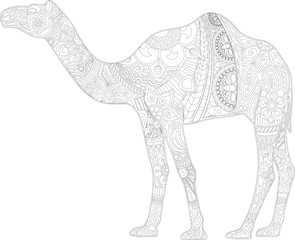 Camel with ornament (contour)