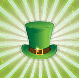 Leprechaun hat with gold buckle