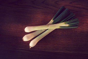 large green onions