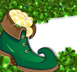 Leprechaun shoes with gold coins