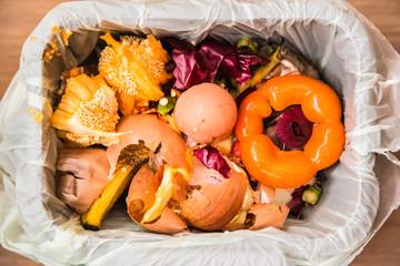 Compost in a bin